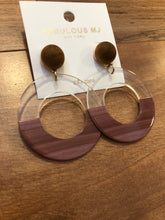 Load image into Gallery viewer, Half Circle Statement Earrings