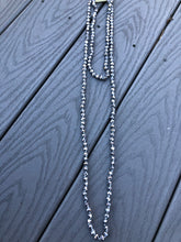 Load image into Gallery viewer, Double Wrap Beaded Necklace in Graphite