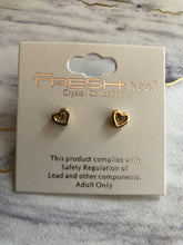 Load image into Gallery viewer, Metal Cut-Out Heart Stud Earrings