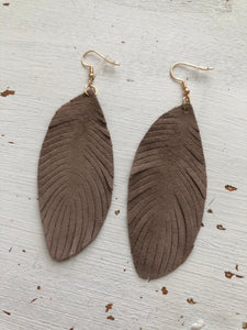The Susie Leather Feather Earring