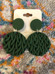 Sweater Weather Clay Earrings