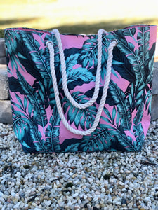 Tropical Oasis Palm Print Tote