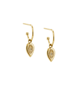 KIRSTIN ASH Etched Teardrop Hoop Earring - 18K Gold Plated
