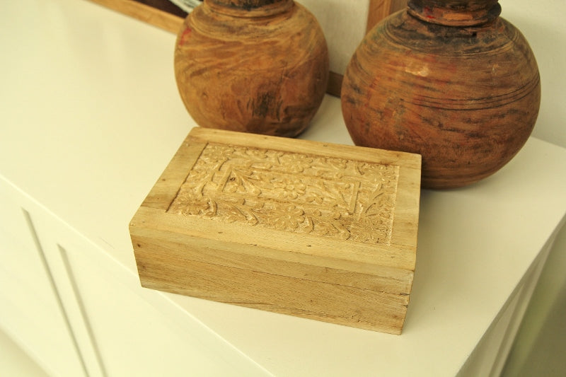 Bleached carved Box