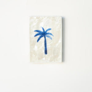 Jai Vasicek Blue Palm Shell Mini Tile