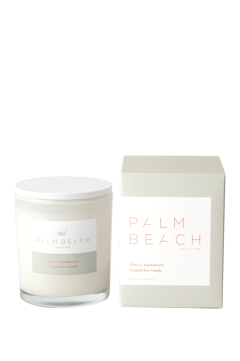 Palm Beach Clove and Sandlewood soy candle 420g