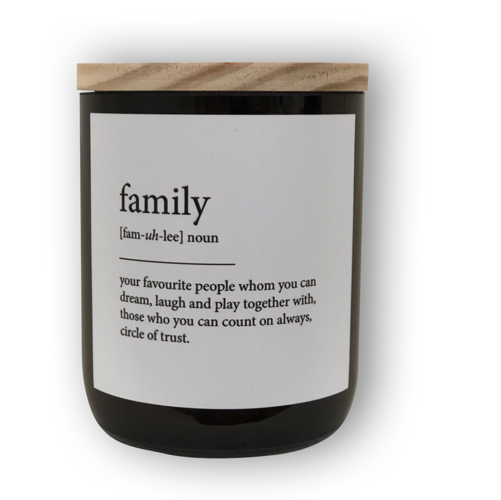 The Commonfolk Collective Quote Soy Candle - Family