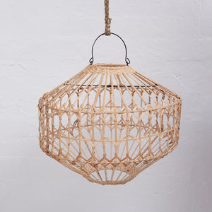 Luna flat rattan light shade Natural