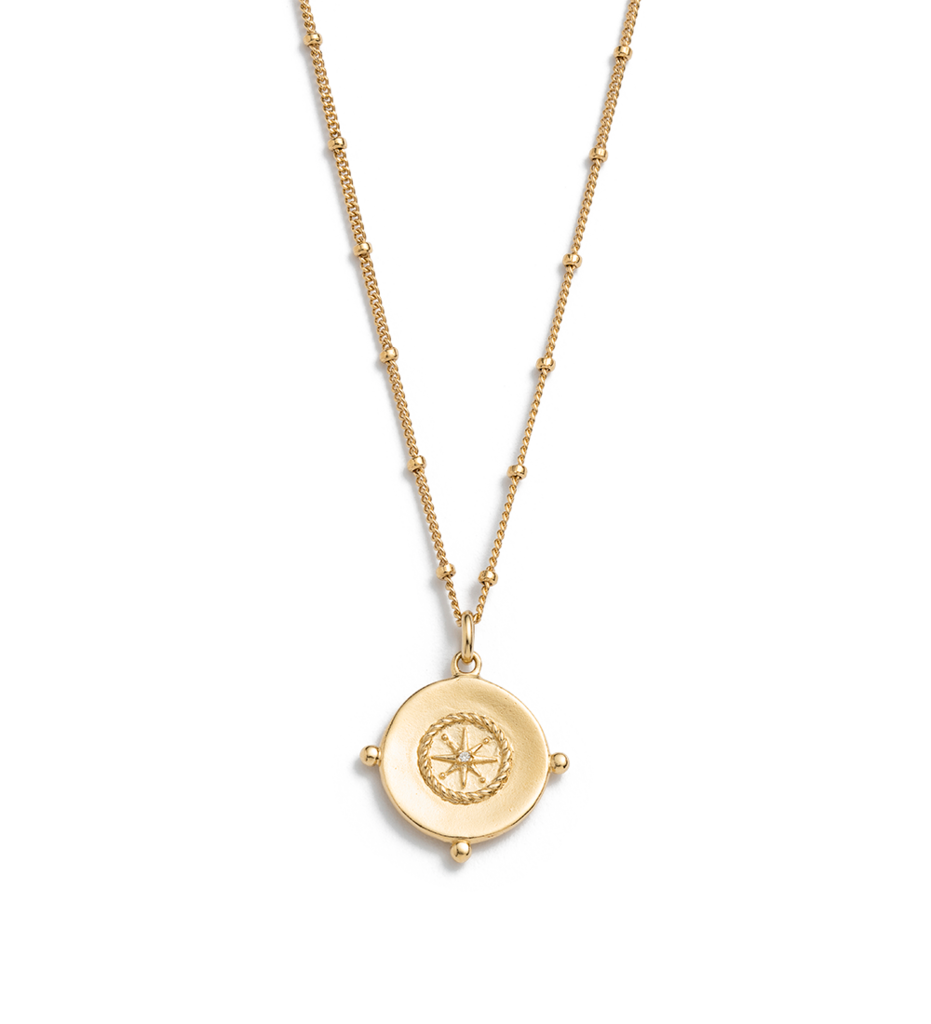 KIRSTIN ASH Sail Away Coin Necklace - 18K Gold Plated