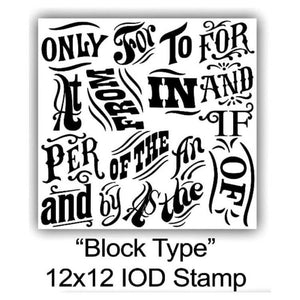 "IOD STAMP ""BLOCK TYPE"" 12""X12"""