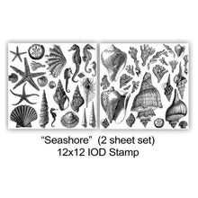 "Load image into Gallery viewer, IOD STAMP ""Seashore"" (2 SHEETS) 12""X12"""