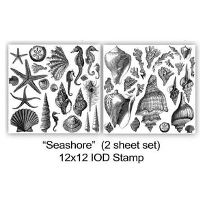 "IOD STAMP ""Seashore"" (2 SHEETS) 12""X12"""