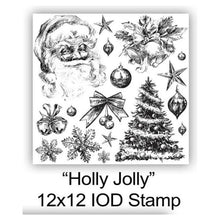 "Load image into Gallery viewer, IOD STAMP ""Holly Jolly"" 12""X12""-Limited edition"