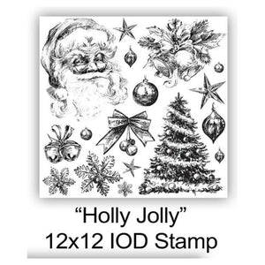 "IOD STAMP ""Holly Jolly"" 12""X12""-Limited edition"