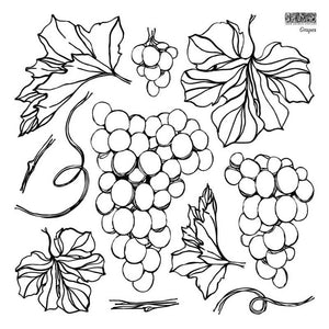 "IOD STAMP ""GRAPES"" 12""X12""---PRE-ORDER ONLY---SHIPPING END OF MAY"