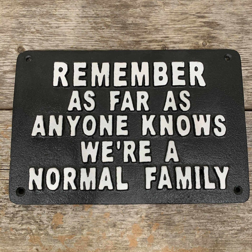 SIGN IRON NORMAL FAMILY