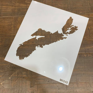 STENCIL - MAP OF NOVA SCOTIA
