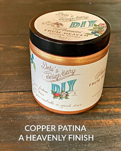 DIY PAINT PENNIES FROM HEAVEN-COPPER PATINA