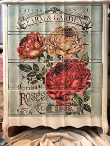 "IOD TRANSFER CATALOGUE OF ROSES  24"" x 33"""
