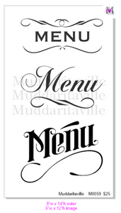 M0059 Menu- RENTAL ONLY-READ DETAILS BELOW