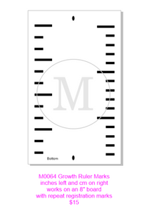 M0064 GROWTH CHART- STENCIL RENTAL ONLY-READ DETAILS BELOW