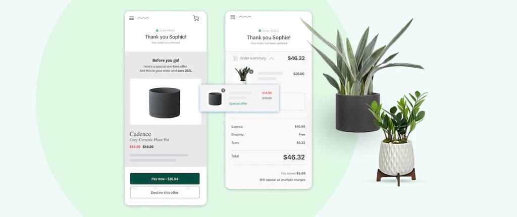 Immagine app post purchase a checkout