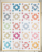 Load image into Gallery viewer, Diamond Lantern Quilt Kit Teal/Blue