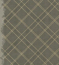 Collection CF Tartan in Pewter with Gold Metallic