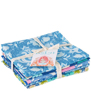 SunKiss Blue Teal Fat Quarter Bundle