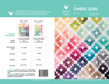Load image into Gallery viewer, Ombre Gems Quilt Pattern