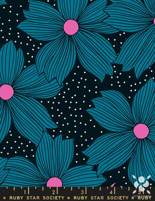 Ruby Star Night Bloom in Turquoise