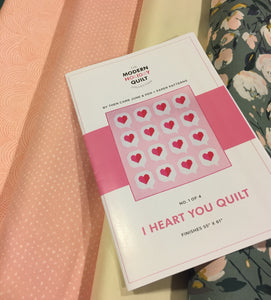 I HEART YOU QUILT KIT
