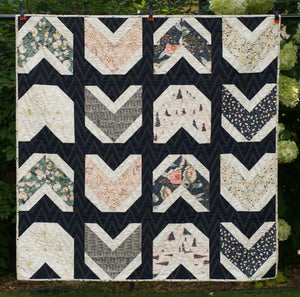 Quilty Arrows Crib Quilt