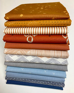 Copper and Denim Fat Quarter Bundle