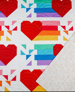 Confetti Hearts Quilt by Modernly Morgan