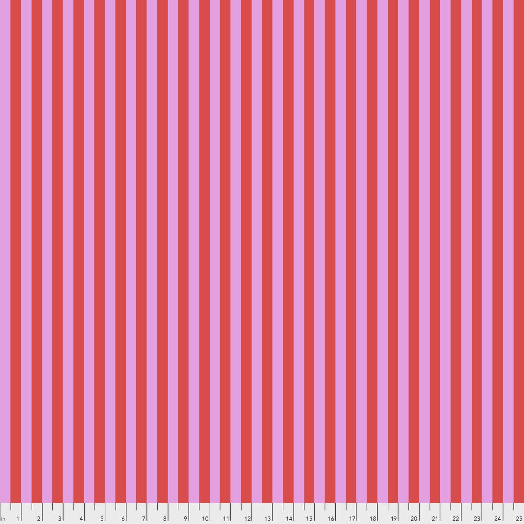 Tula Pink Tent Stripe in Poppy