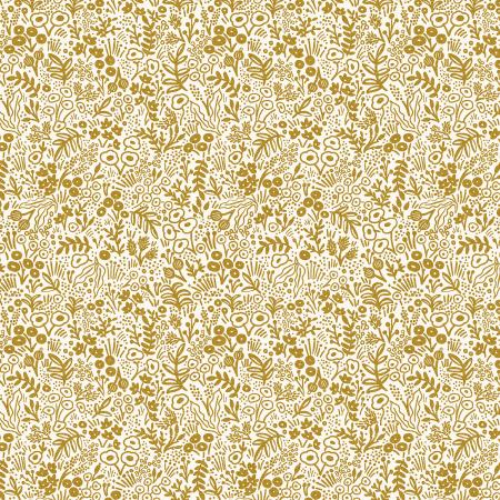 Tapestry Lace in Gold Metallic for Rifle Paper Co. Basics