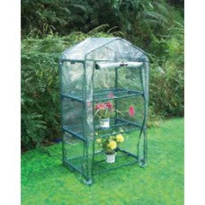 greenhouse with shelves