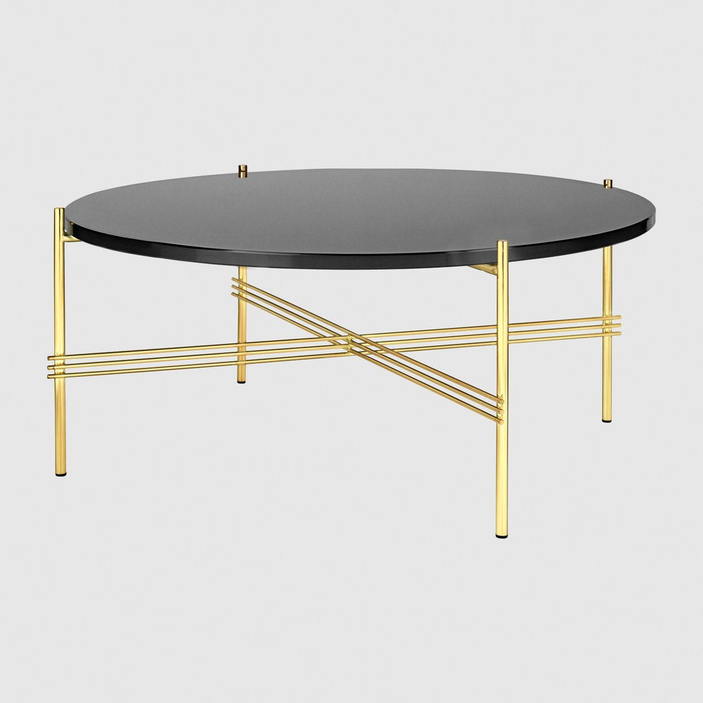 TS Coffee Table - Round Ø80cm Brass base