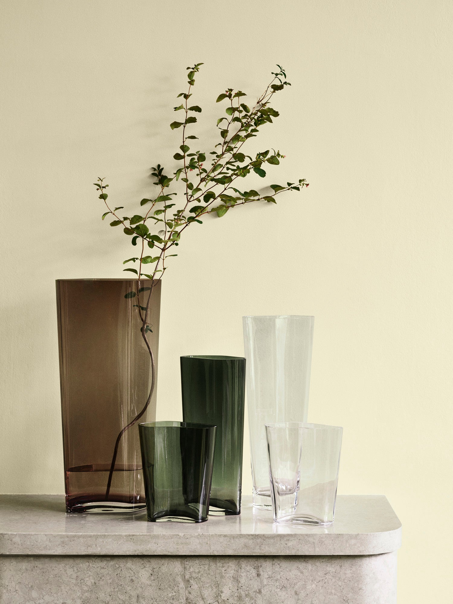 Collect SC36 Glass Vase, Clear