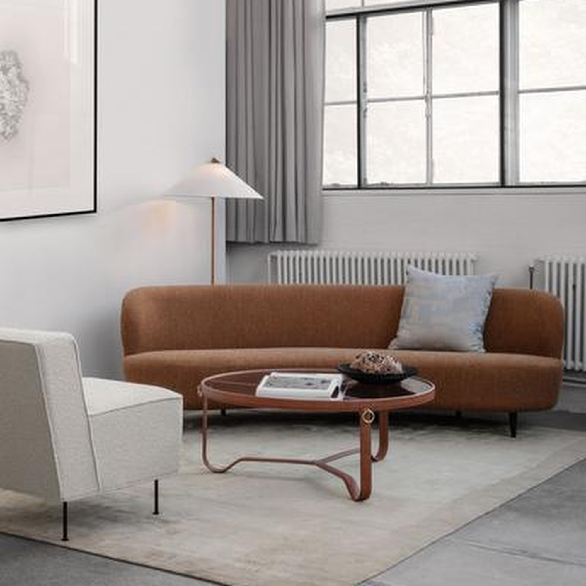 Stay Curved Sofa Wood