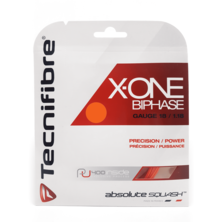 Tecnifibre X-One Biphase 18 Squash String (Orange)