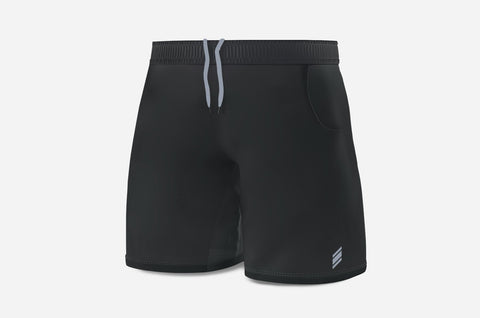 Performance Line Shorts - (Black/LightGrey)