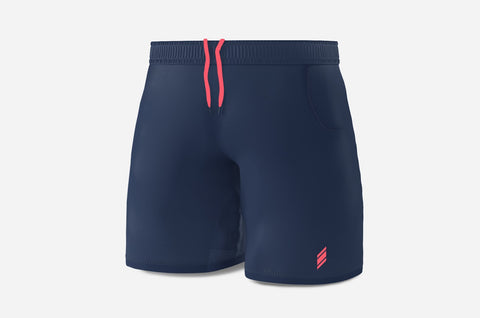 Performance Line Shorts - (Navy/Peach)