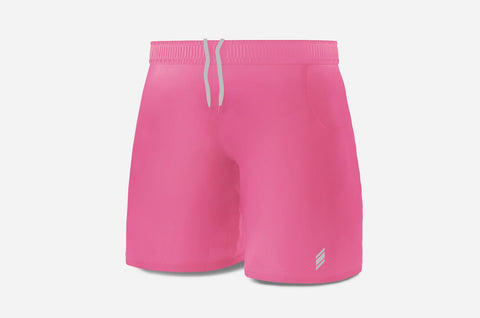Performance Line Shorts - (Pink/LightGrey)
