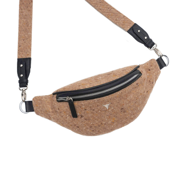 SAC BANANE HARPER - TWEED TERRACOTTA
