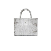 SAC MINI CHARLIE - PYTHON NATURAL SILVER