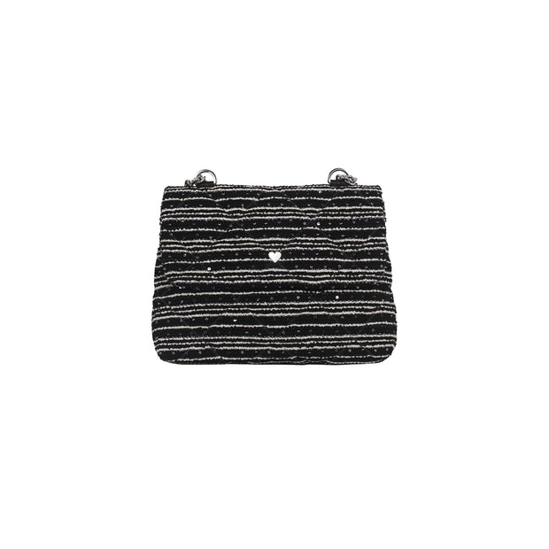 SAC ORIGINAL CAPRI - TWEED NOIR PAILLETÉ