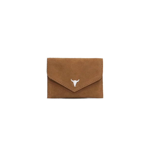 PORTE - MONNAIE ANNA - DAIM INDIAN TAN