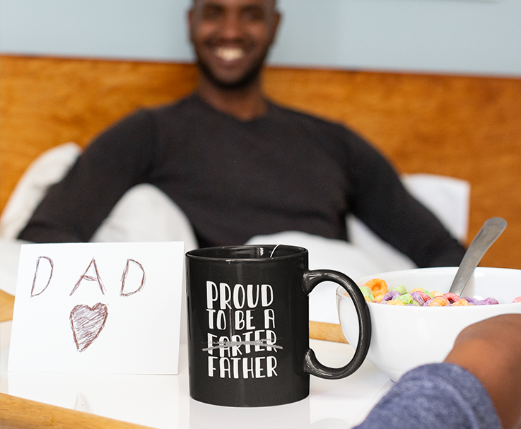 Proud To Be a Father Black Mug